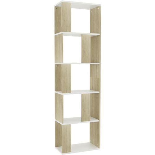 Ormarić za knjige / pregrada bijeli/hrast 45x24x159 cm iverica slika 11
