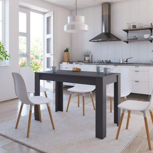 Blagovaonski stol sivi 120 x 60 x 76 cm od iverice slika 7