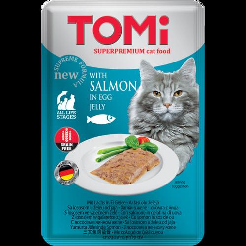 Tomi Hrana za mačke ALU vrećica Losos u želeu od jaja 100g slika 1