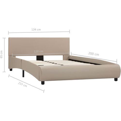 Okvir za krevet od umjetne kože boja cappuccina 120 x 200 cm slika 14