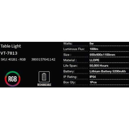 LED bežična punjiva rasvjeta — BAR TABLE slika 2