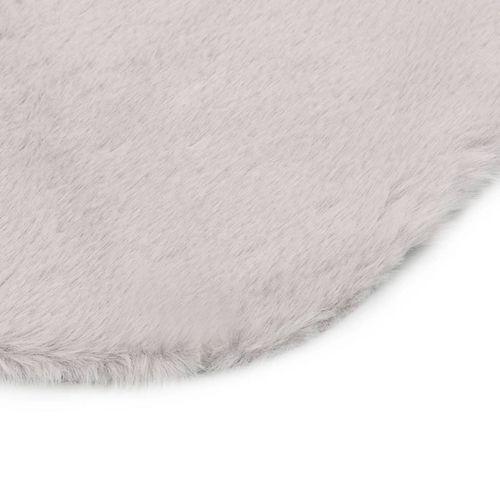 Tepih od umjetnog zečjeg krzna 65 x 95 cm sivi slika 3
