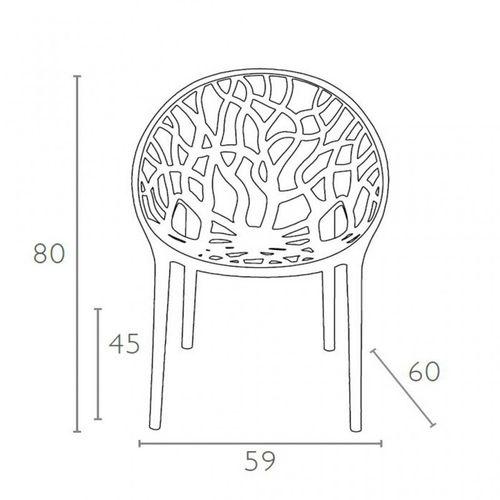 Dizajnerska stolica — POLY ROUND slika 36