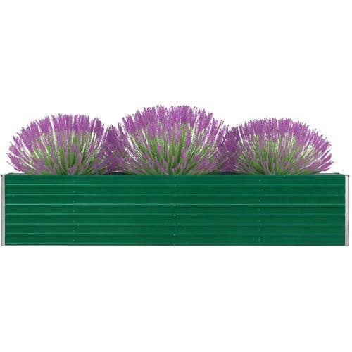 Vrtna sadilica od pocinčanog čelika 320 x 40 x 45 cm zelena slika 7