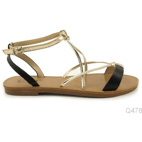 Crno Zlatne Sandale slika 1