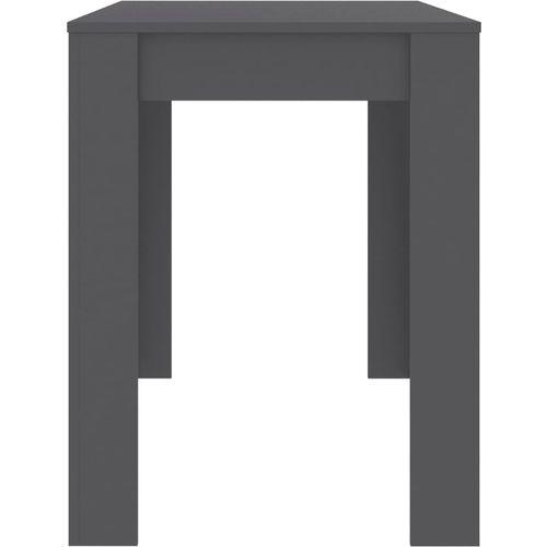 Blagovaonski stol sivi 120 x 60 x 76 cm od iverice slika 11