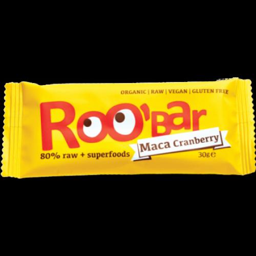 Roobar Bar Raw Maca & Brusnica  30g slika 1