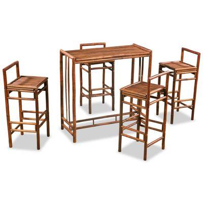 Ovaj blagovaonski set odiše rustikalnim šarmom što ga čini izvrsnim dodatkom za dekor vaše kuhinje ili blagovaonice. Također se može koristiti u vašem vrtu kako bi se stvorilo ugodno mjesto za okupljanje. Izrađeni od bambusa, stol i stolice su...
