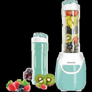 Boca za miješanje se može skinuti i koristiti kao putna boca Dvije odvojive boce za blendanje zapremnine 0,6 l Boce izrađene od TRITANA (PCTG) otpornog na udarce i bez BPA