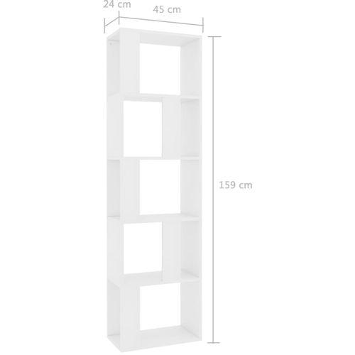 Ormarić za knjige / sobna pregrada bijeli 45x24x96 cm iverica slika 7