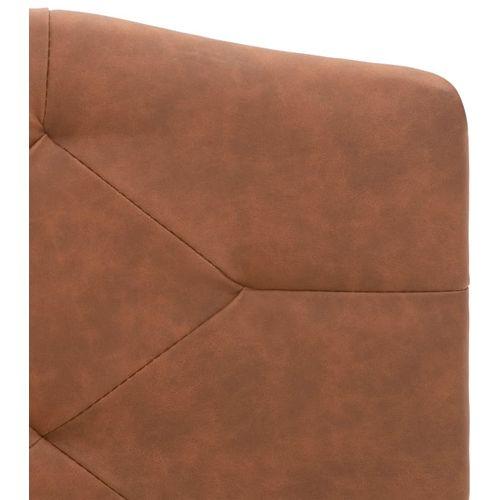 Krevet od tkanine s memorijskim madracem smeđi 180 x 200 cm slika 8