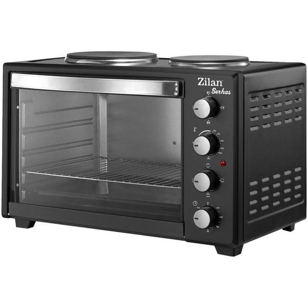 Mini pećnica, ZLN2935, ukupna snaga 3200 W ( pećnica 1600 W, velika ploča za kuhanje 1000 W,mala ploča 600 W ), dodatak za kuhinje u malim kućanstvima koji štedi prostor. Priprema hrane zadovoljava u svim uvjetima. Prostrana pećnica od 45 lit zadovolja...