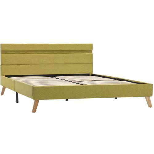 Okvir za krevet od tkanine s LED svjetlom zeleni 140 x 200 cm slika 12