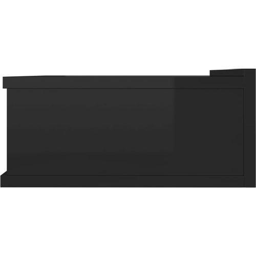 Viseći noćni ormarići 2 kom sjajni crni 40x30x15 cm od iverice slika 25