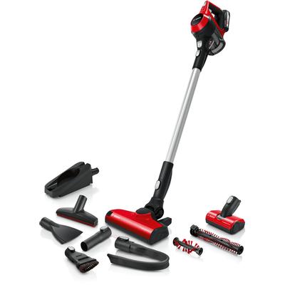 Za ljubitelje životinja: do 30 % brže čišćenje * - i to bez kabla! Novi bežični usisavač Bosch ProAnimal .        Najkompaktniji: jednostavno rukovanje i fleksibilno čišćenje zahvaljujući kompaktnom dizajnu i maloj težini.    Sustav Power for ALL: baterijski sklop dio je Bosch Home & Garden 18-voltnog bežičnog sustava (zelena proizvodna linija).    ProAnimal četka za visoku sposobnost čišćenja na svim vrstama podova s dodatnom okruglom četkom idealnom za životinjsku dlaku.    Proizvedeno u Njemačkoj: standardi visoke kvalitete i temeljito testiranje za trajno zadovoljstvo.    Produženo vrijeme rada: izmjenjivi baterijski sklop omogućava vam da po potrebi produžite vrijeme rada.