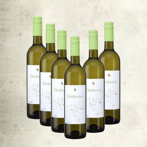 Graševina Lectus vrhunsko vino (nagrađivano) / 6 boca slika 1
