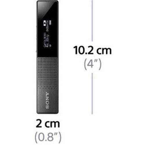 Digitalni diktafon Sony ICD-TX650 Vrijeme snimanja (maks.) 159 h Crna Utišavanje buke, Uklj. torbica, Uklj. stereo slušalice slika 3