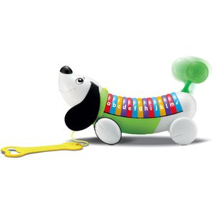 Vrijeme je za šetnju! Alphapup™ psić sa zelenim repićem, pjeva englesku abecedu, slova i riječi kako bi potaknuo rano učenje osnovnog vokabulara. Raznobojne tipke...
