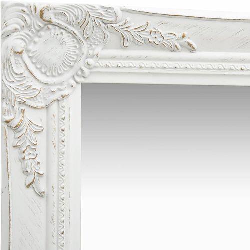 Zidno ogledalo u baroknom stilu 50 x 80 cm bijelo slika 4