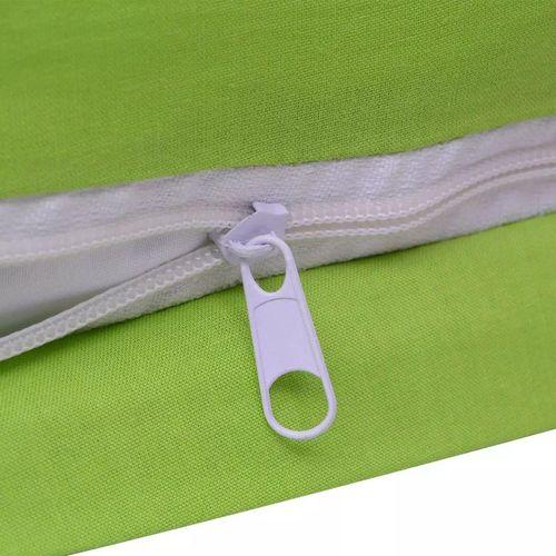 Dvodijelna Posteljna Garnitura Pamuk Zelena boja 135x200/60x70 cm slika 2