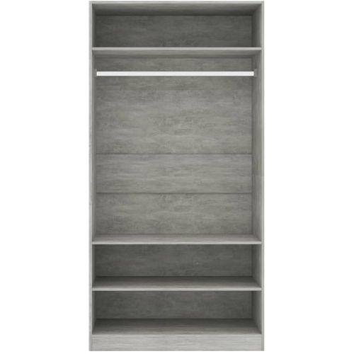 Ormar siva boja betona 100 x 50 x 200 cm od iverice slika 11