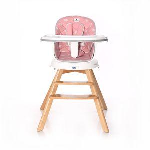 Ova LORELLI NAPOLI hranilica osim ultra modernog dizajna ima i svoju praktičnu stranu. Zarotirajte svoje dijete 360° na čvrstom drvenom postolju, odvojite gornji dio i ponesite ga sa sobom, a donje postolje postaje praktičan stolac i za dijete i za odraslu osobu.      - Rotirajuće sjedalo za 360° stupnjeva - sa 7 pozicija fiksiranja  - 2 para nogica - visoke i niske kako biste hranilicu prilagodili dobi djeteta  - Odvojiv gornji dio - postavlja se na bilokoji drugi stolac  - Kasnije barski stolac (visoke noge) ili niski stolčić (niske noge)  - Dvostruki pladanj s 2 pozicije/Gornji pladanj odvojiv  - 2 pozicije oslonca za noge
