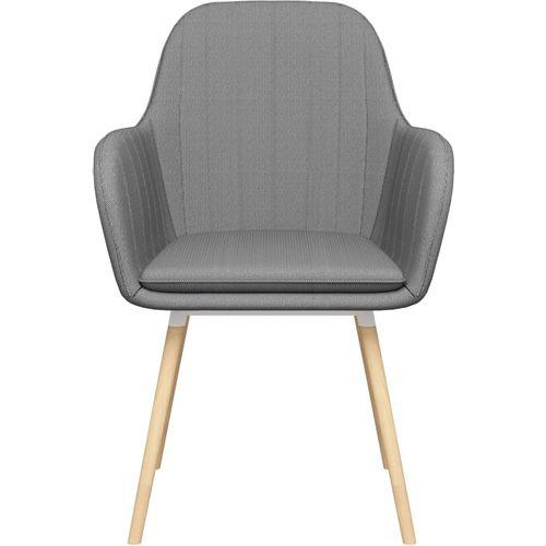 Blagovaonske stolice od tkanine 2 kom svjetlosive slika 3