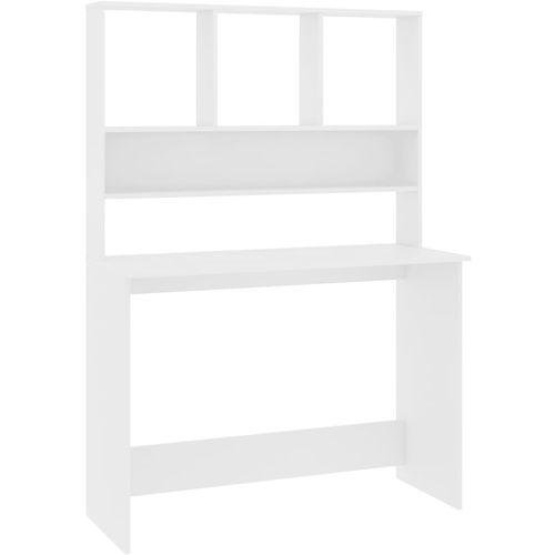 Radni stol s policama bijeli 110 x 45 x 157 cm od iverice slika 2