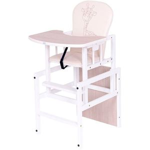 Drvena hranilica 2u1 savršeno će se uklopiti u svaki interijer, a zbog funkcije stolca i stolice djeca će je koristiti znatno duže od klasičnih hranilica.