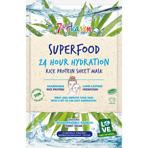 7th Heaven Superfood 24hr Hydration Rice Protein maska u maramici, 1 kom.  slika 1