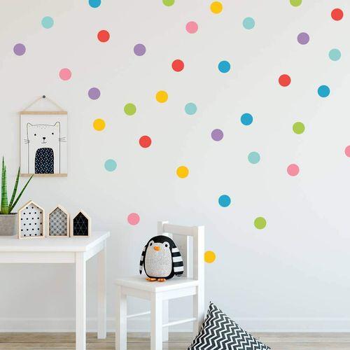Zidne naljepnice — TOČKE — multicolor • 50% gratis slika 2
