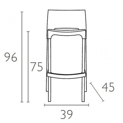 Dizajnerske barske stolice — GIOTTO • 2 kom. slika 2