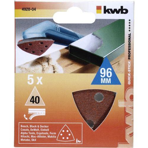 QUICK-STICK set brusnih papira za trokutastu brusilicu 5/1, 96mm, 40g slika 1