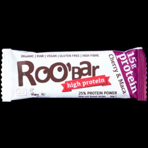 Roobar Bar Raw Protein Trešnja & Maca 60g slika 1