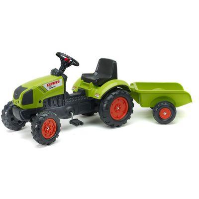 Ovaj prekrasni traktor Falk Claas Arion 410 u zelenoj boji izgleda točno poput pravih traktora Claas Arion. U prikolicu se može uzeti sve – od igračaka do pijeska i sijena!