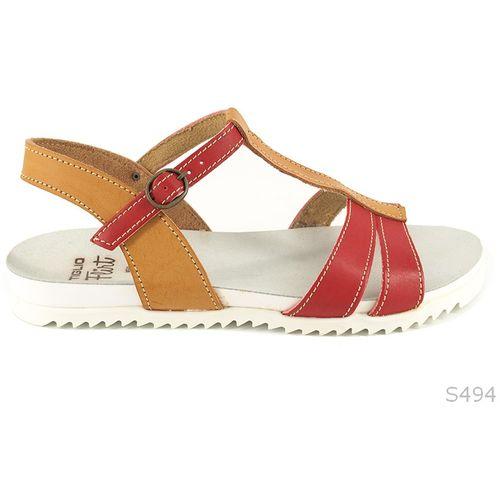 Crveno Smeđe Ravne Sandale slika 1