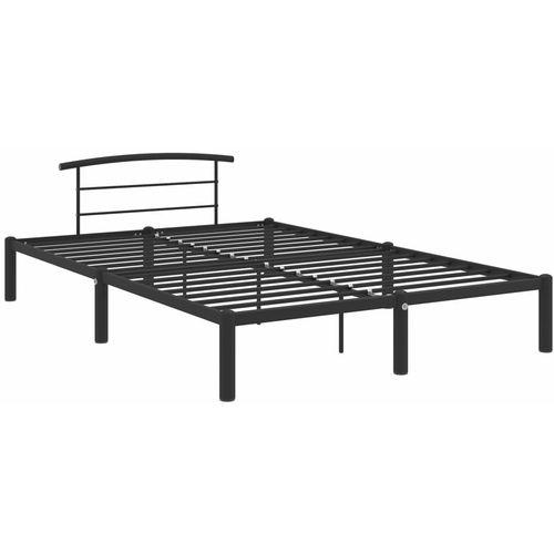 Okvir za krevet crni metalni 160 x 200 cm slika 2
