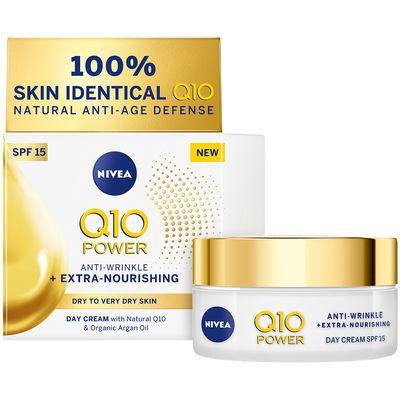 NIVEA® Q10 POWER IZNIMNO HRANJIVA dnevna krema protiv bora sadrži koenzim Q10 koji je 100% IDENTIČAN onome u vašoj koži