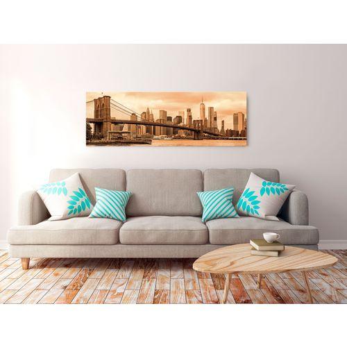 Bimago Slika Road to Manhattan 1 kom Narrow Sepia 150x50cm slika 2