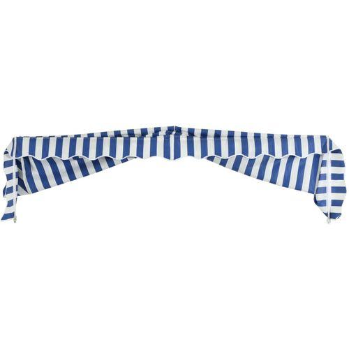 Bistro tenda 250 x 120 cm plavo-bijela slika 14