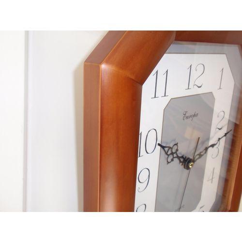 Zidni quartz sat 7195S - puno drvo slika 2