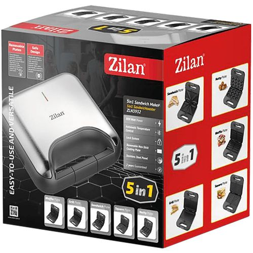 Zilan Toster 5u1, Inox, LED indikator, 800 W - ZLN3932 slika 4