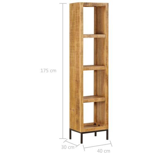 Police za knjige od masivnog drva manga 40 x 30 x 175 cm slika 8