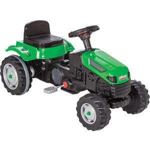 Ovaj veliki dječji traktor je kvalitetno napravljen od čvrste izdržljive plastike i najbolji je izbor za vašeg mališana.  Maksimalna nosivost do 50 kg.  Dob: 3+