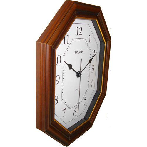 ULISSE nečujni zidni quartz sat - puno drvo slika 2