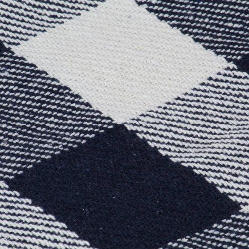 Pamučni pokrivač karirani 220 x 250 cm mornarsko plavi slika 2