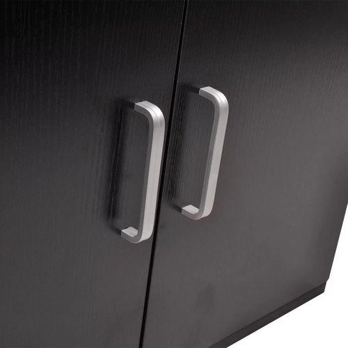 3-Dijelni Komplet Namještaja za Kupaonicu s Umivaonikom Crni  slika 14