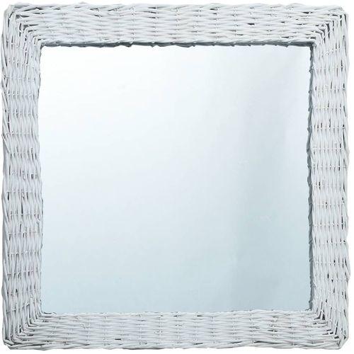 Ogledalo od pruća 50 x 50 cm bijelo slika 1