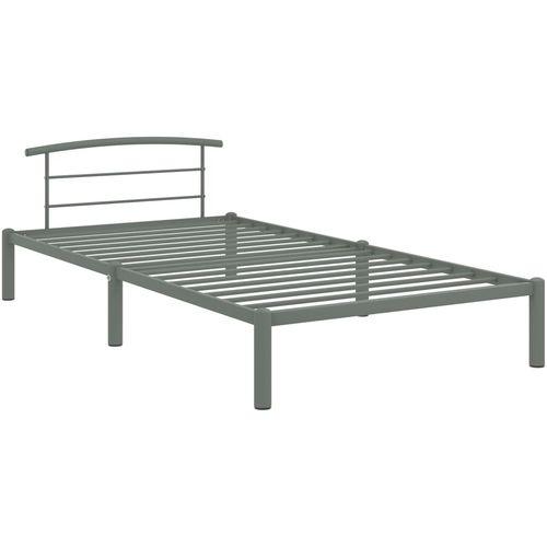 Okvir za krevet sivi metalni 100 x 200 cm slika 2