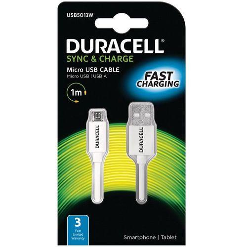 Duracell Kabel – Micro USB to USB 1m – White slika 1